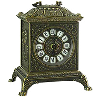 Часы каминные Alberti Livio цвета бронзы, фото