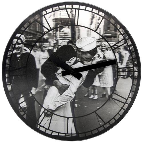 Настенные часы Next Time Kiss me in New York, фото