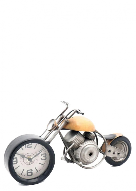 Часы в виде мотоцикла Loft Clocks & Co Orange Chopper, фото