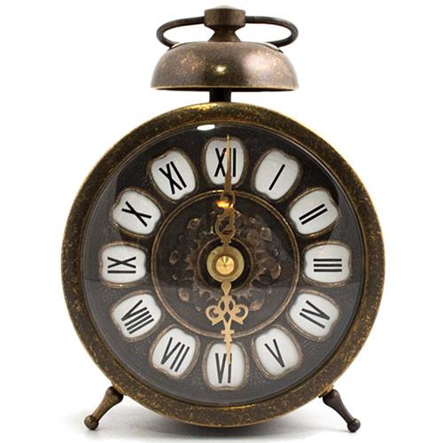 Часы-будильник Alberti Livio Sveglia с рельефным декором на циферблате, фото