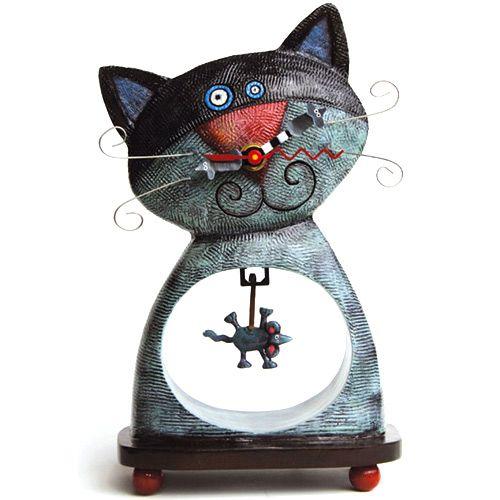 Часы с котом и мышкой, фото