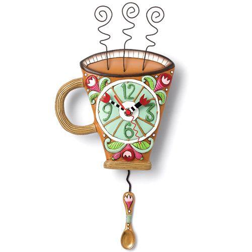 Часы Enesco Кофе с молоком, фото