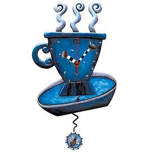 Часы Enesco Синий кофейный сервиз, фото