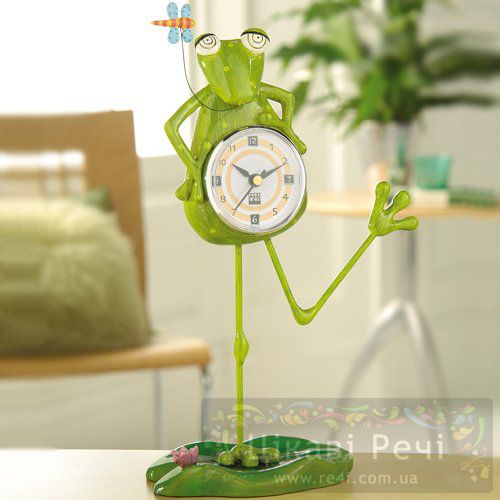 Часы настольные «Танцующая жабка», фото