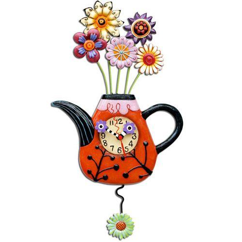 Часы настенные «Цветы в чайнике», фото