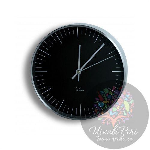 Часы настенные Philippi Tempus B1 черные, фото