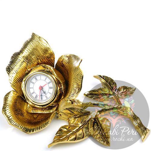 Часы настольные Virtus в виде бронзового цветка, фото