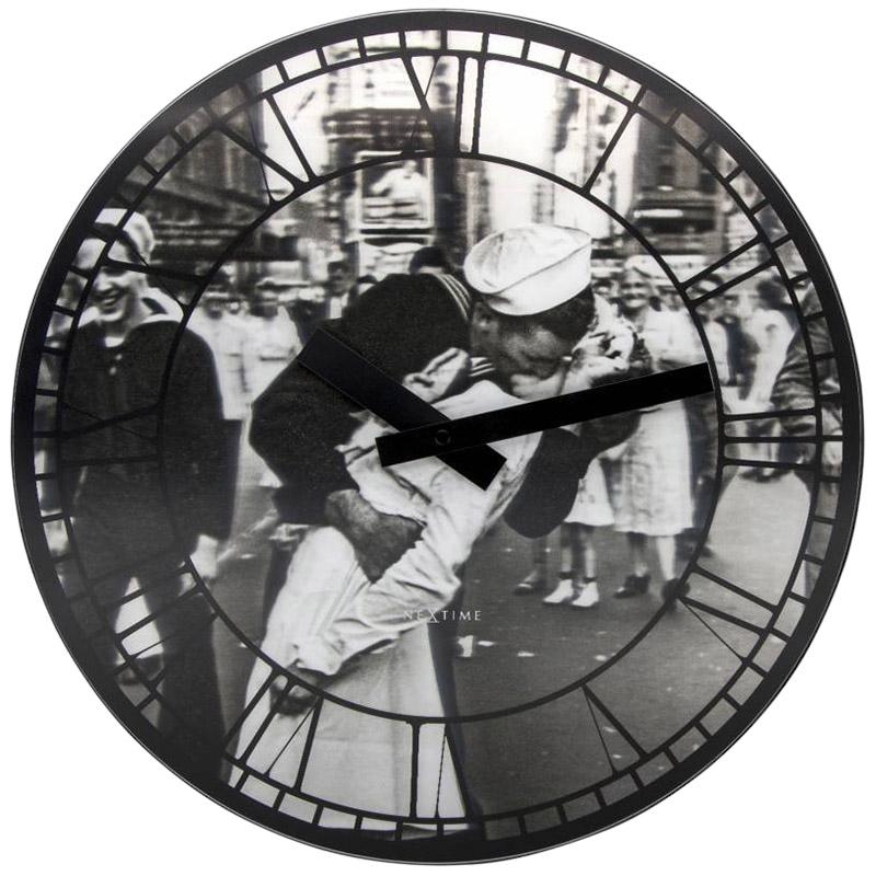 Настенные часы Next Time Kiss me in New York