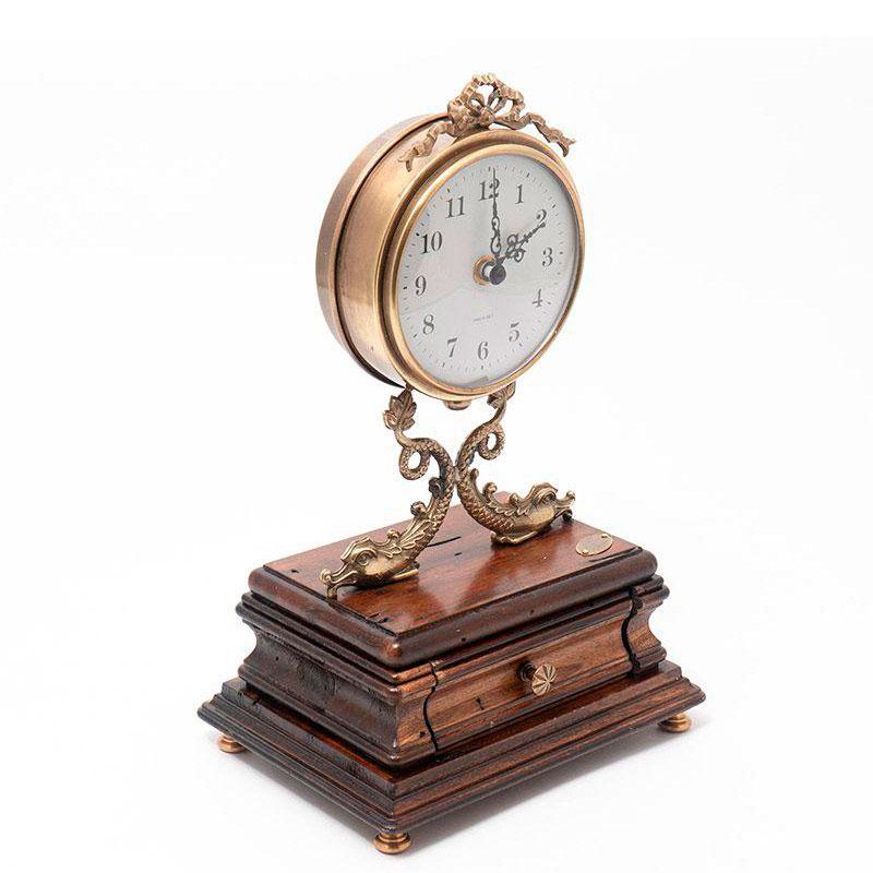 Настольные часы Capanni с керамическим циферблатом