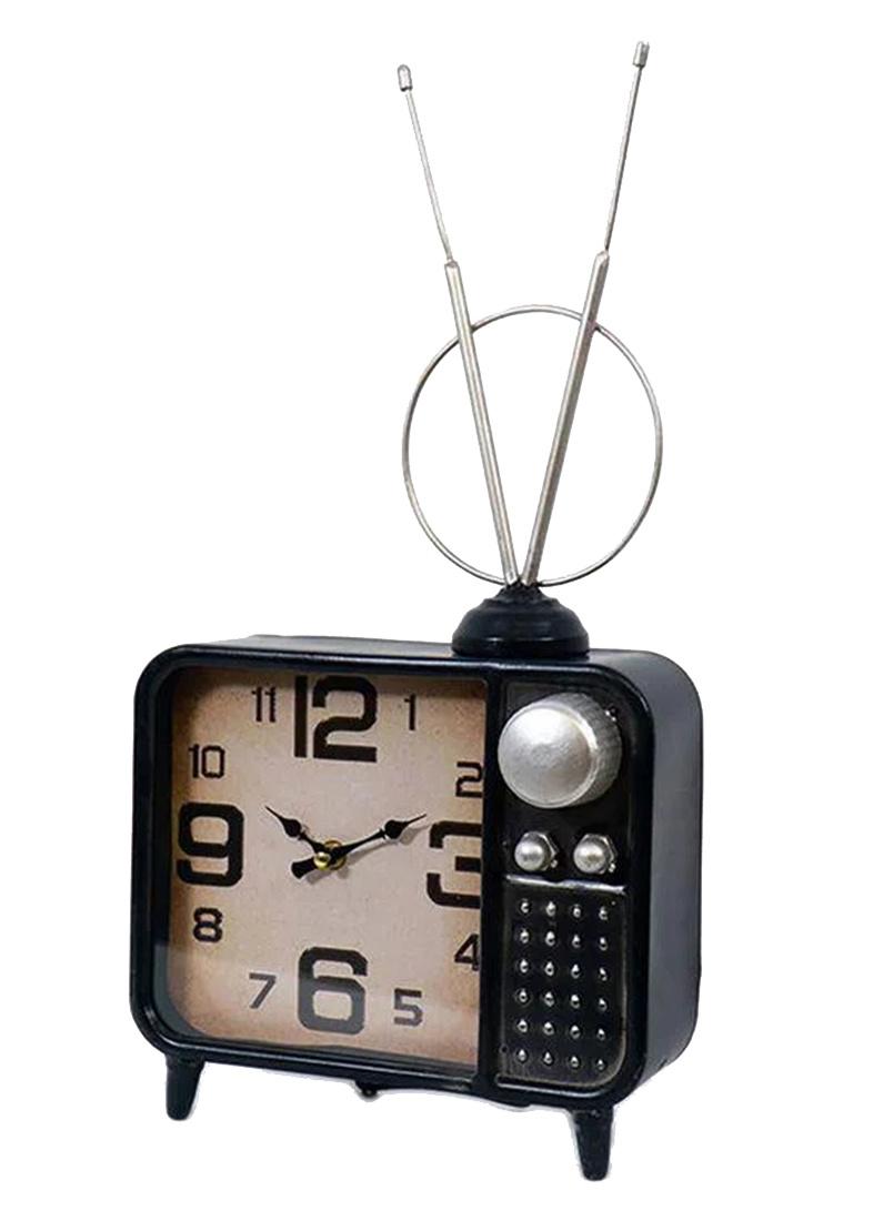 Настольные часы Loft Clocks & Co Logie в виде телевизора в винтажном стиле