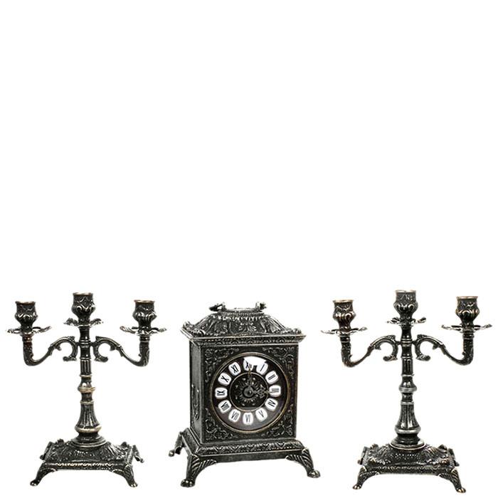 Часы каминные  Alberti Livio и два подсвечника
