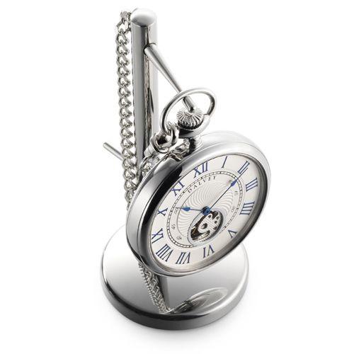 Карманные часы Dalvey Open Face на цепочке с подставкой