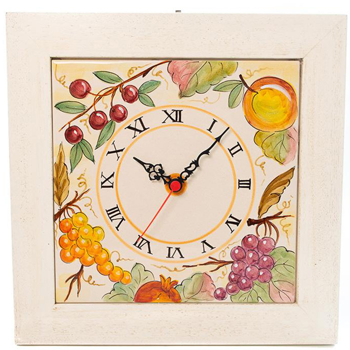 Настенные часы L'Antica Deruta Фрукты и овощи