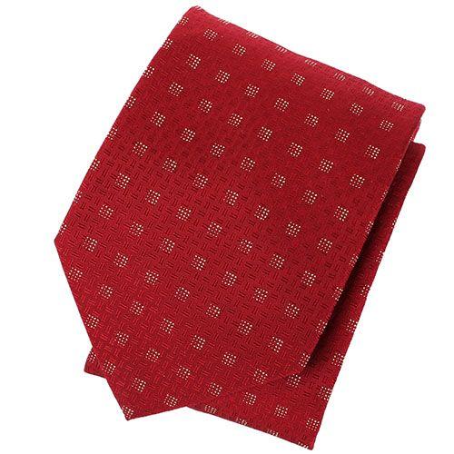 Галстук DKNY красного цвета с мелким геометрическим рисунком, фото