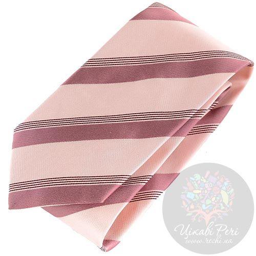 Галстук DKNY бледно-розового цвета в полоску, фото