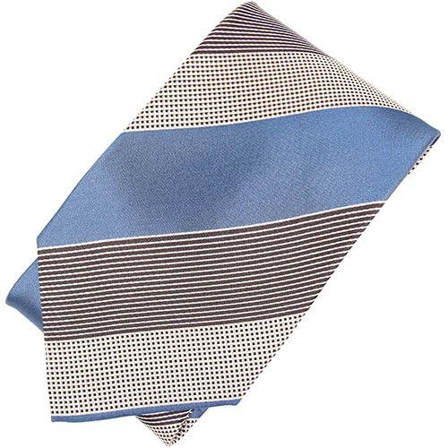 Галстук DKNY голубого цвета в широкую полоску, фото