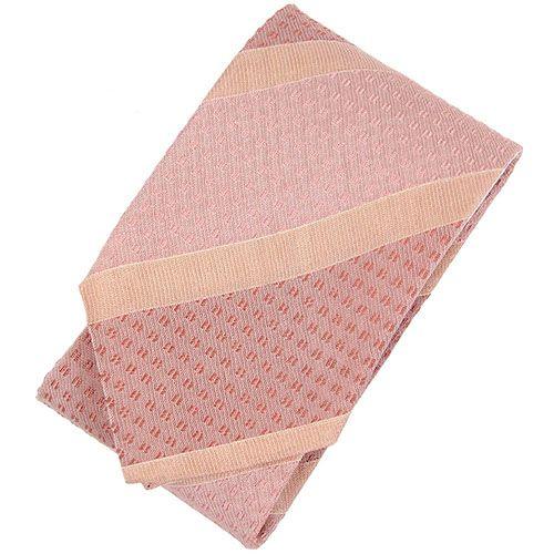 Галстук DKNY розового цвета в бежевые полоски разной ширины, фото