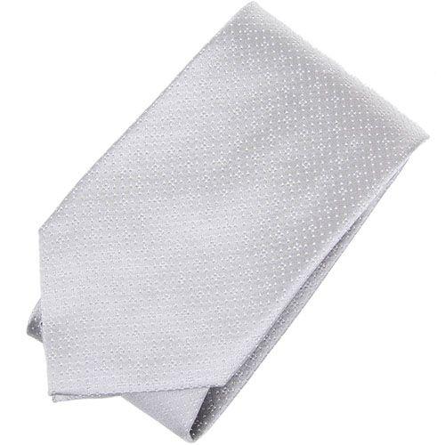 Светло-серый галстук DKNY с крупной текстурой, фото