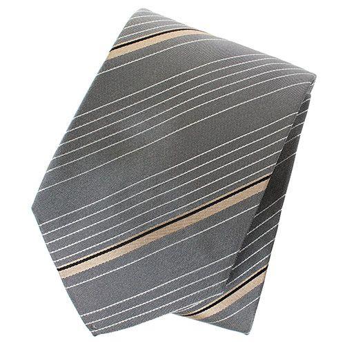 Галстук серого цвета DKNY в полоску, фото