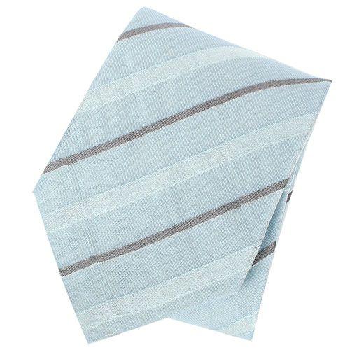 Галстук DKNY нежного голубого цвета в тонкую серую полоску, фото