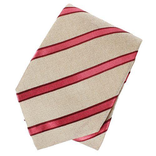 Серый шелковый галстук DKNY в полоску насыщенного розового цвета, фото