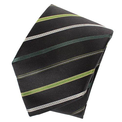 Галстук Nodus шелковый синего цвета в зеленую полоску, фото