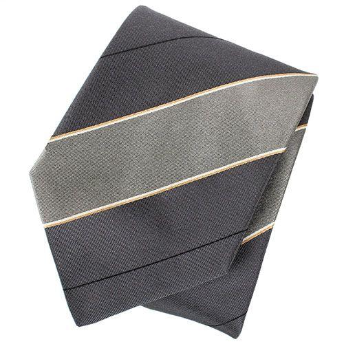Серый галстук DKNY с полосками синего цвета, фото