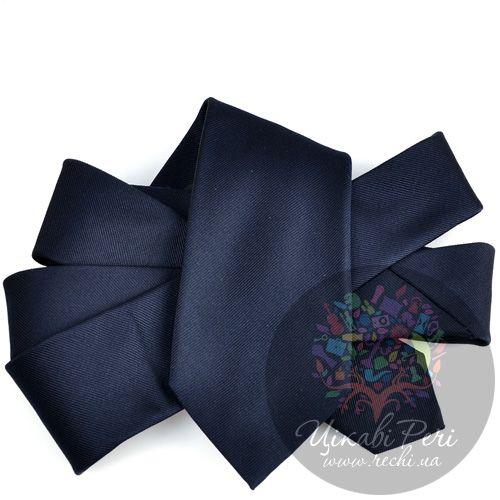 Галстук Valentino шелковый черный гладкий, фото