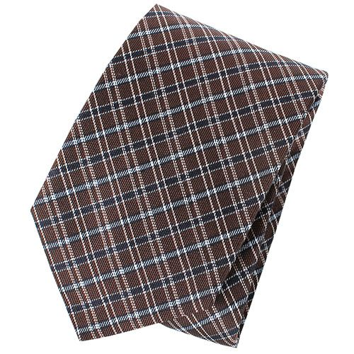 Галстук Trussardi коричневого цвета с геометричным рисунком голубого цвета, фото