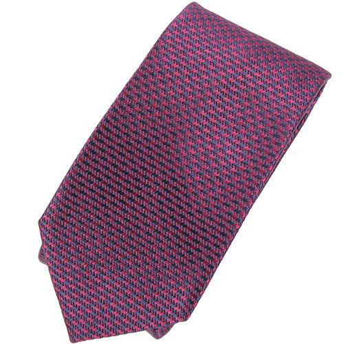 Галстук Trussardi бордово-фиолетового цвета фактурный, фото