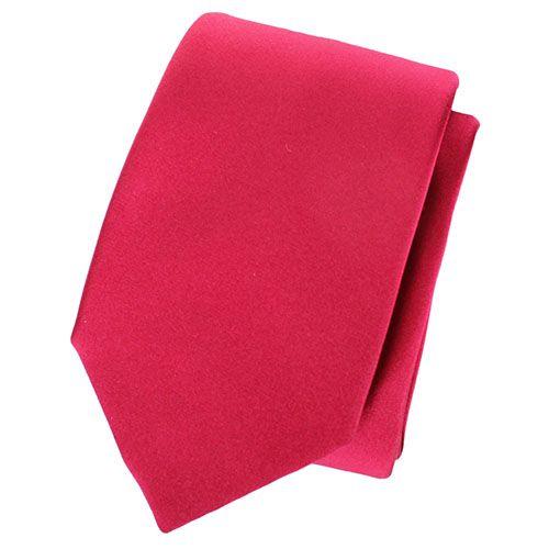 Галстук Valentino шелковый ягодного цвета, фото