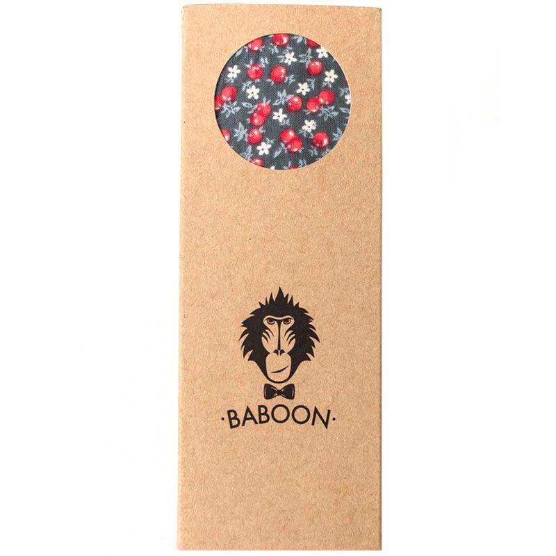 Галстук-бабочка Baboon двухсторонняя с цветочным принтом и клеткой