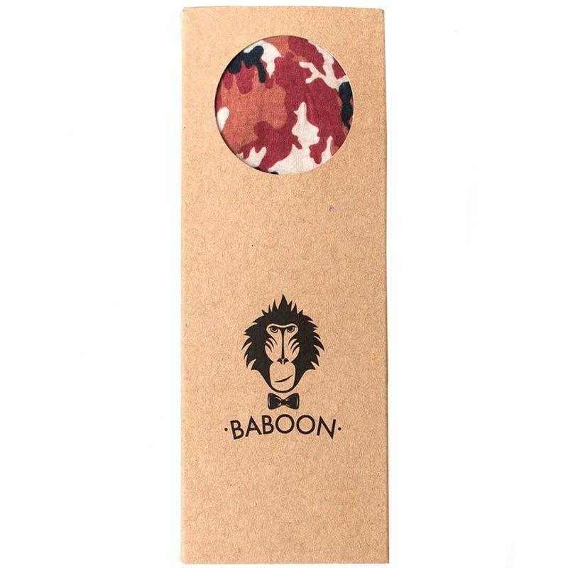 Галстук-бабочка Baboon двухсторонняя красный камуфляж с синим