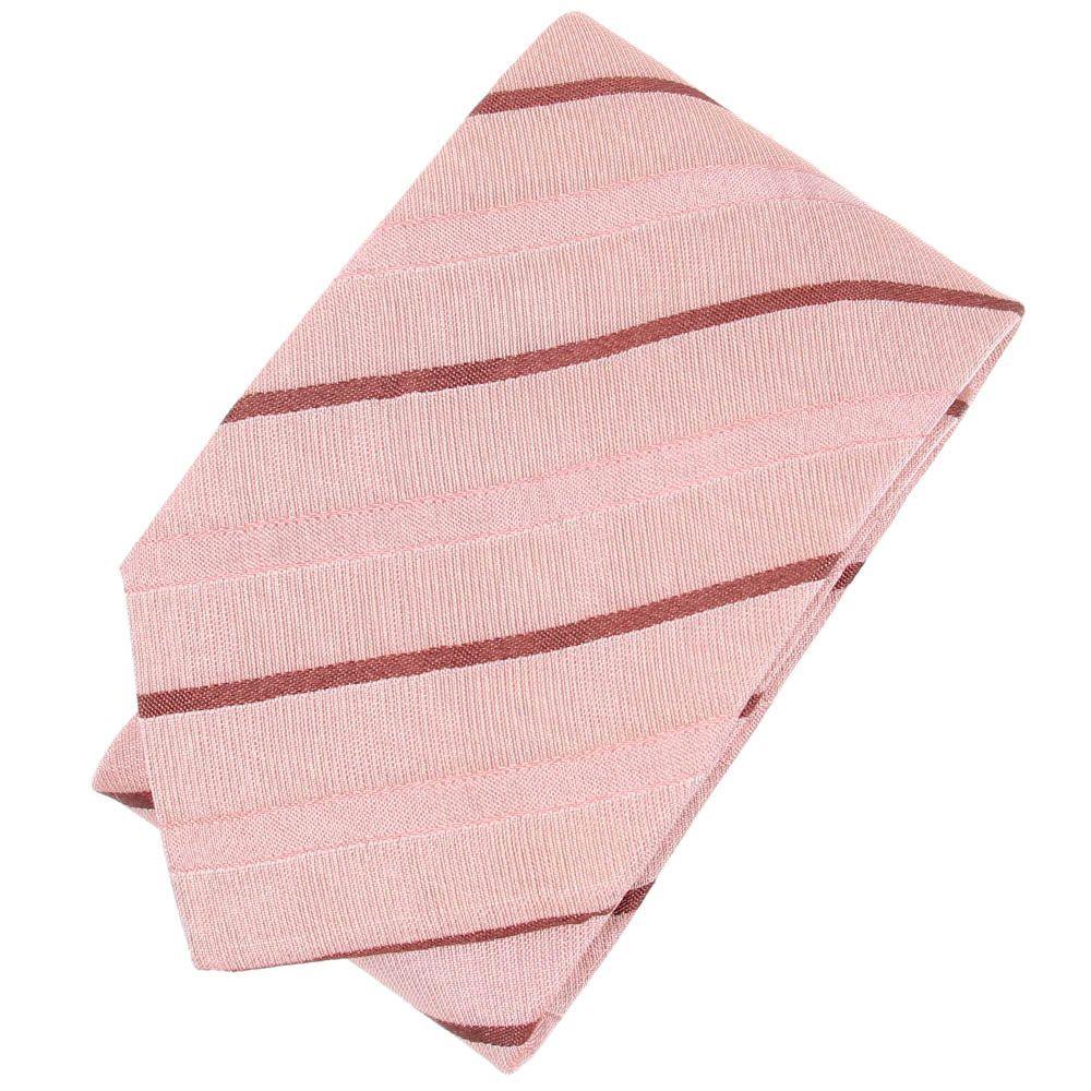 Шелковый галстук DKNY розового цвета в мелкую красную точку