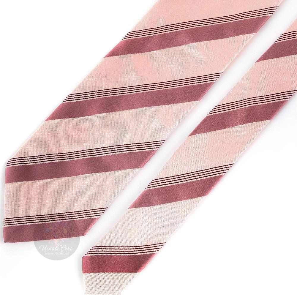 Галстук DKNY бледно-розового цвета в полоску
