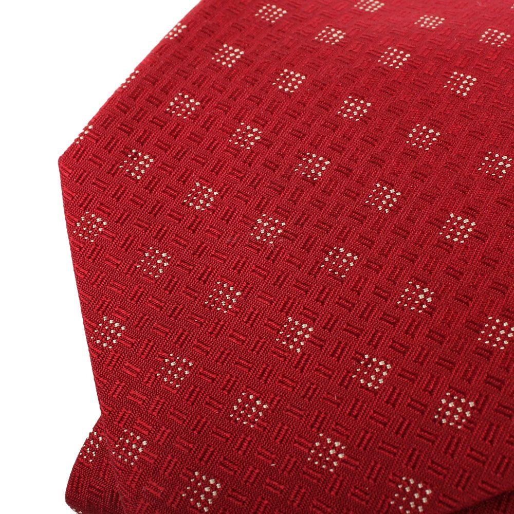 Галстук DKNY красного цвета с мелким геометрическим рисунком