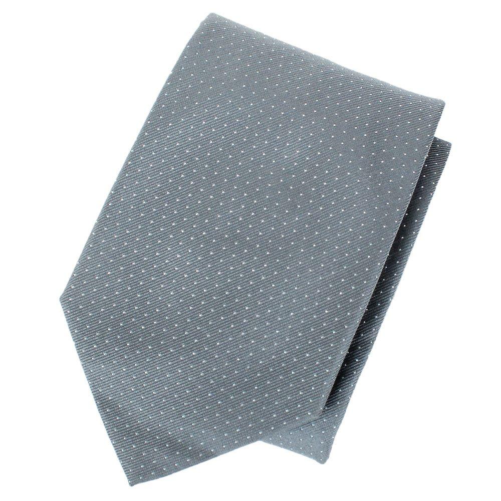 Галстук DKNY серого цвета в мелкую белую точку