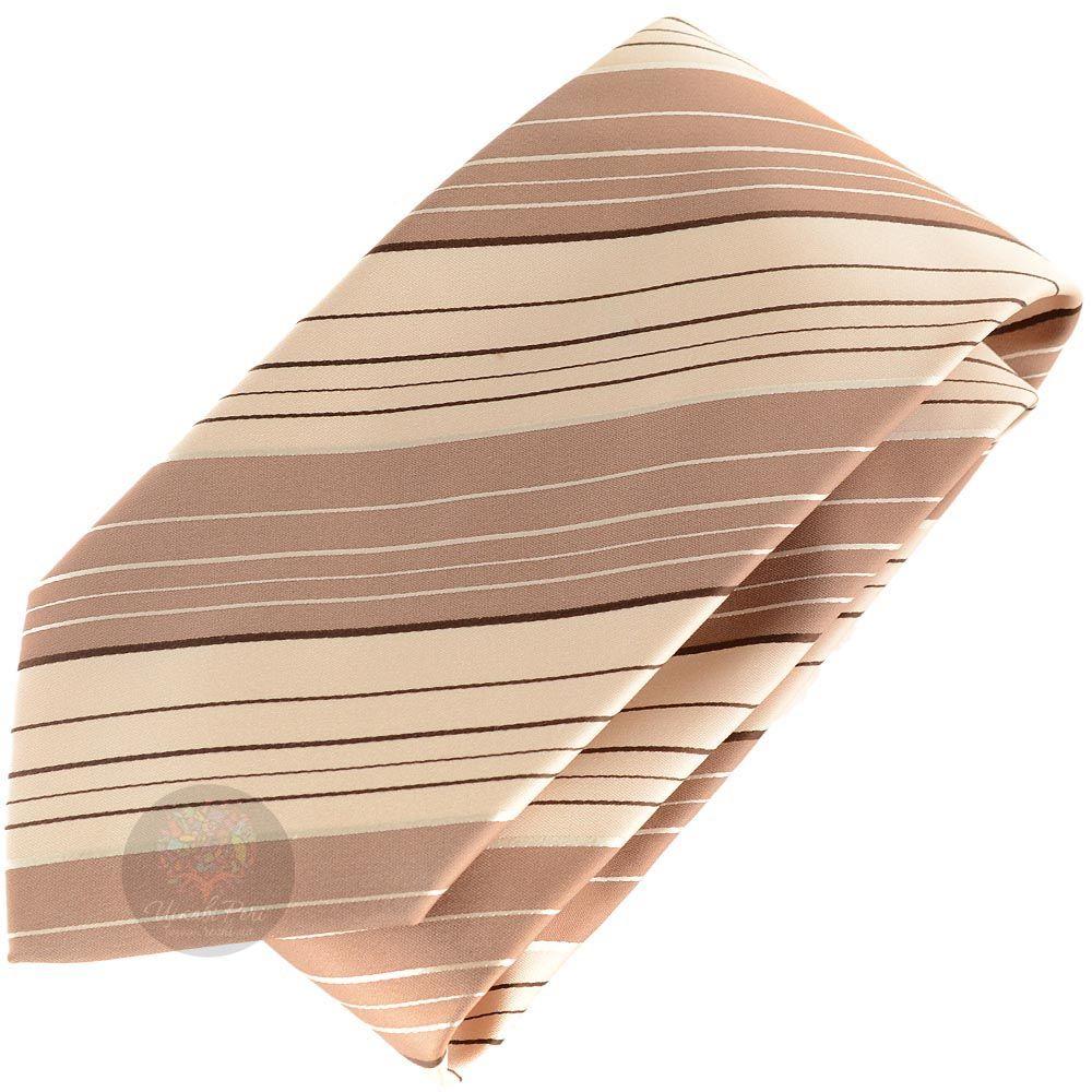 Галстук DKNY в полоски песочных оттенков разной ширины