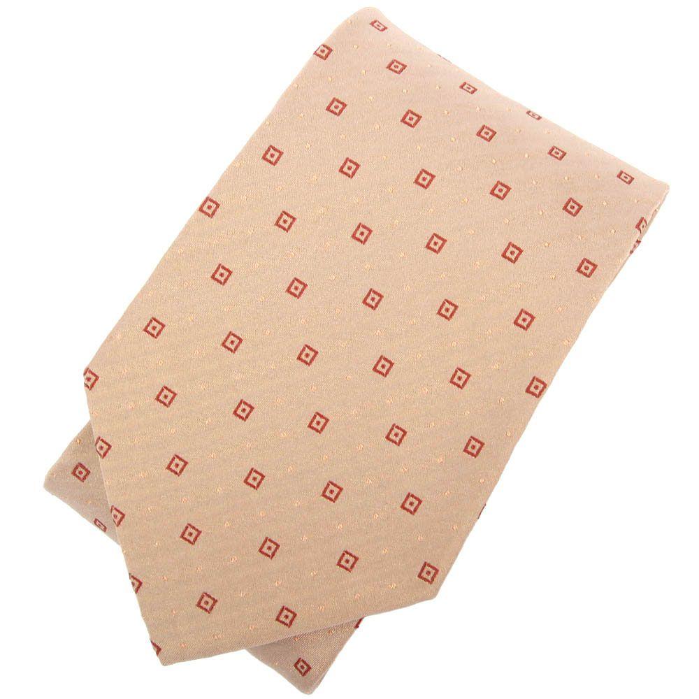 Бежевый галстук DKNY в красные квардратики