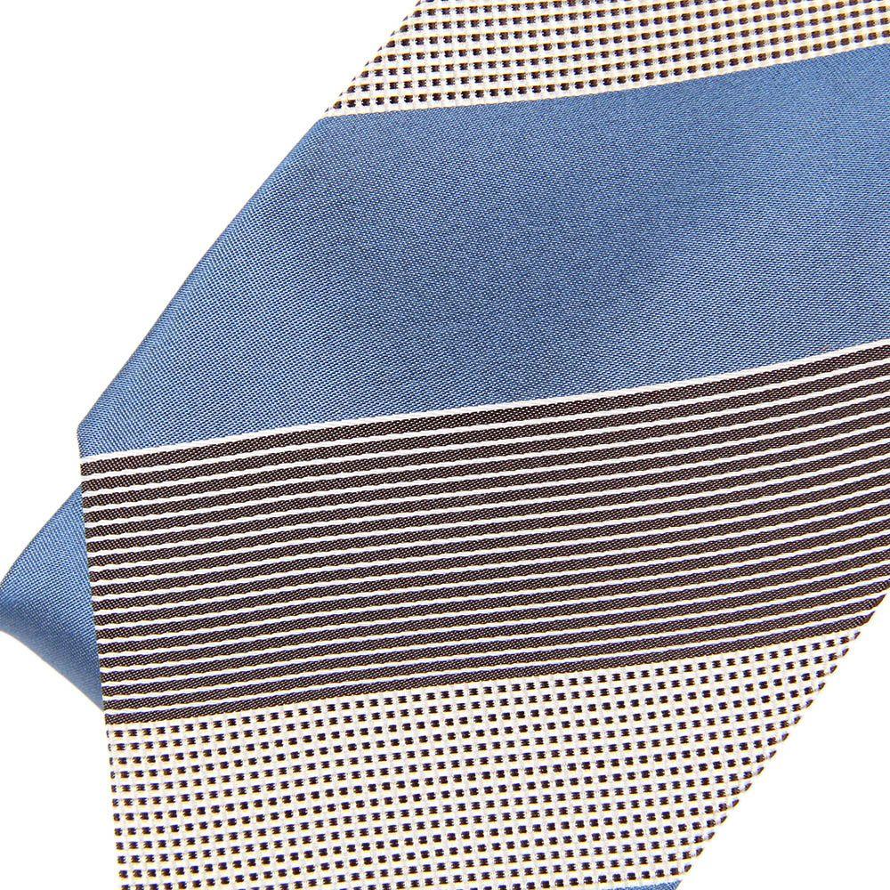 Галстук DKNY голубого цвета в широкую полоску