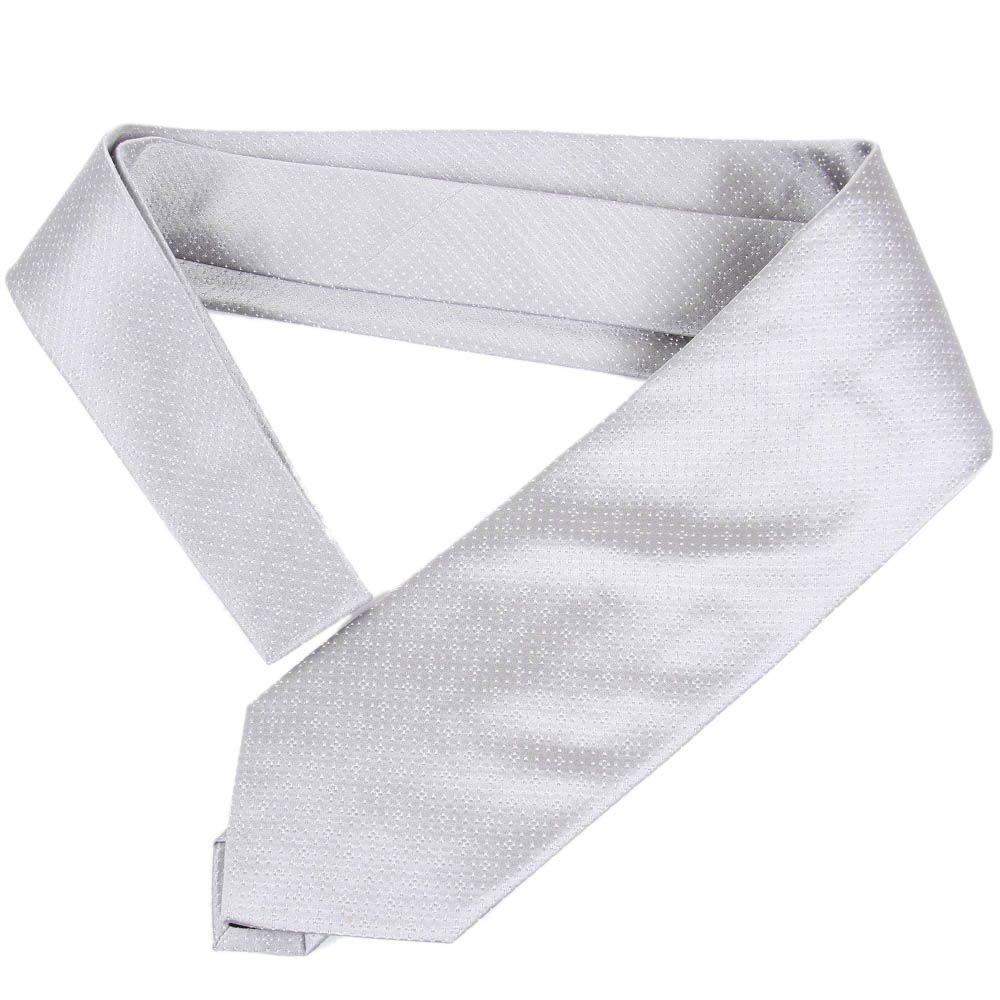 Светло-серый галстук DKNY с крупной текстурой