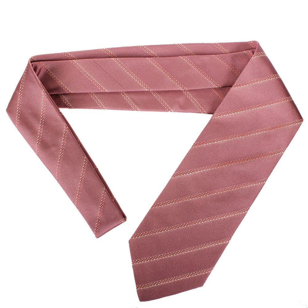 Галстук DKNY темно-розового цвета в полоску с абстрактным рисунком