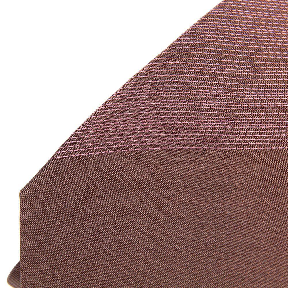 Галстук DKNY коричневого цвета с розовой декоративной строчкой
