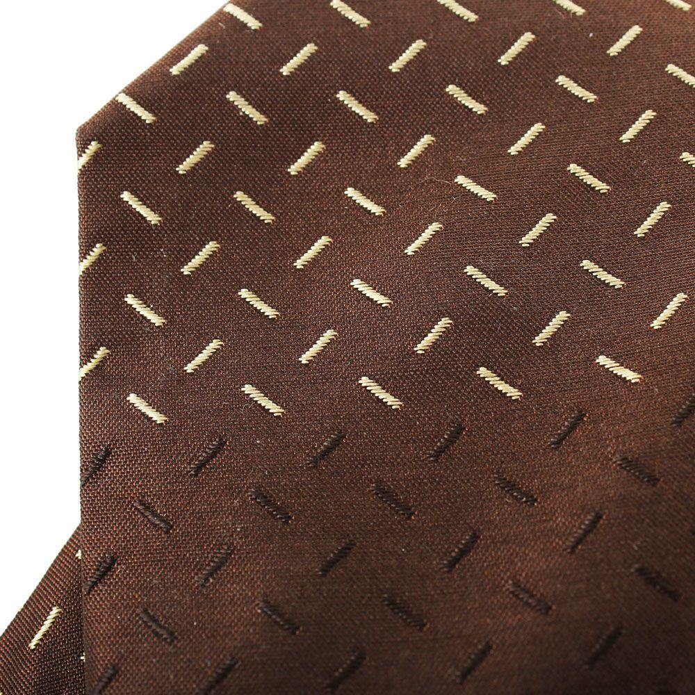 Галстук DKNY коричневого цвета с мелким геометрическим рисунком