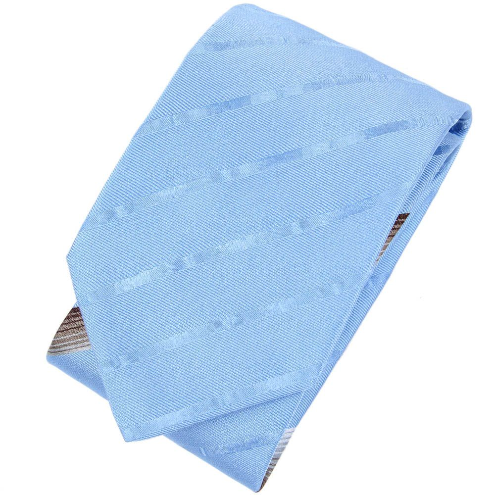 Галстук DKNY ярко-голубого цвета в полоску с атласным блеском