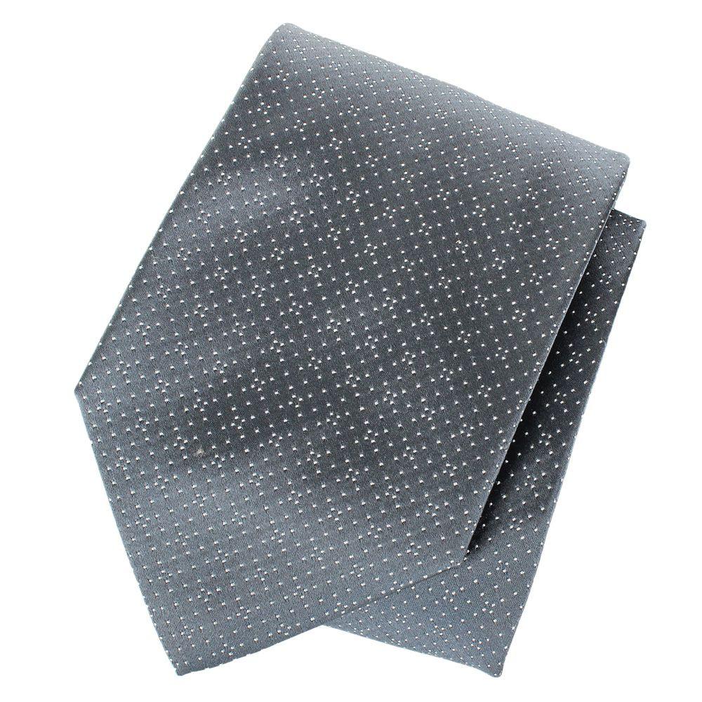 Галстук DKNY серого цвета с крупной текстурой