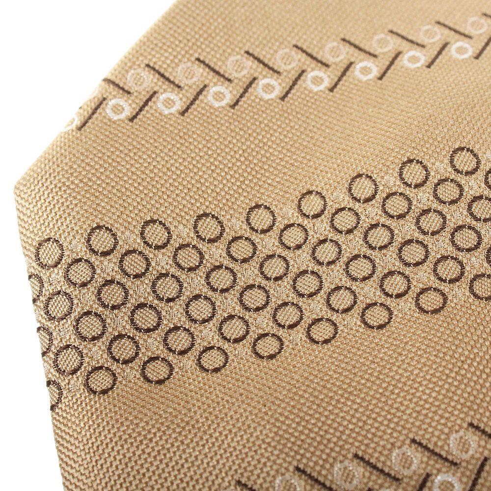 Бежевый шелковый галстук DKNY с абстрактным рисунком