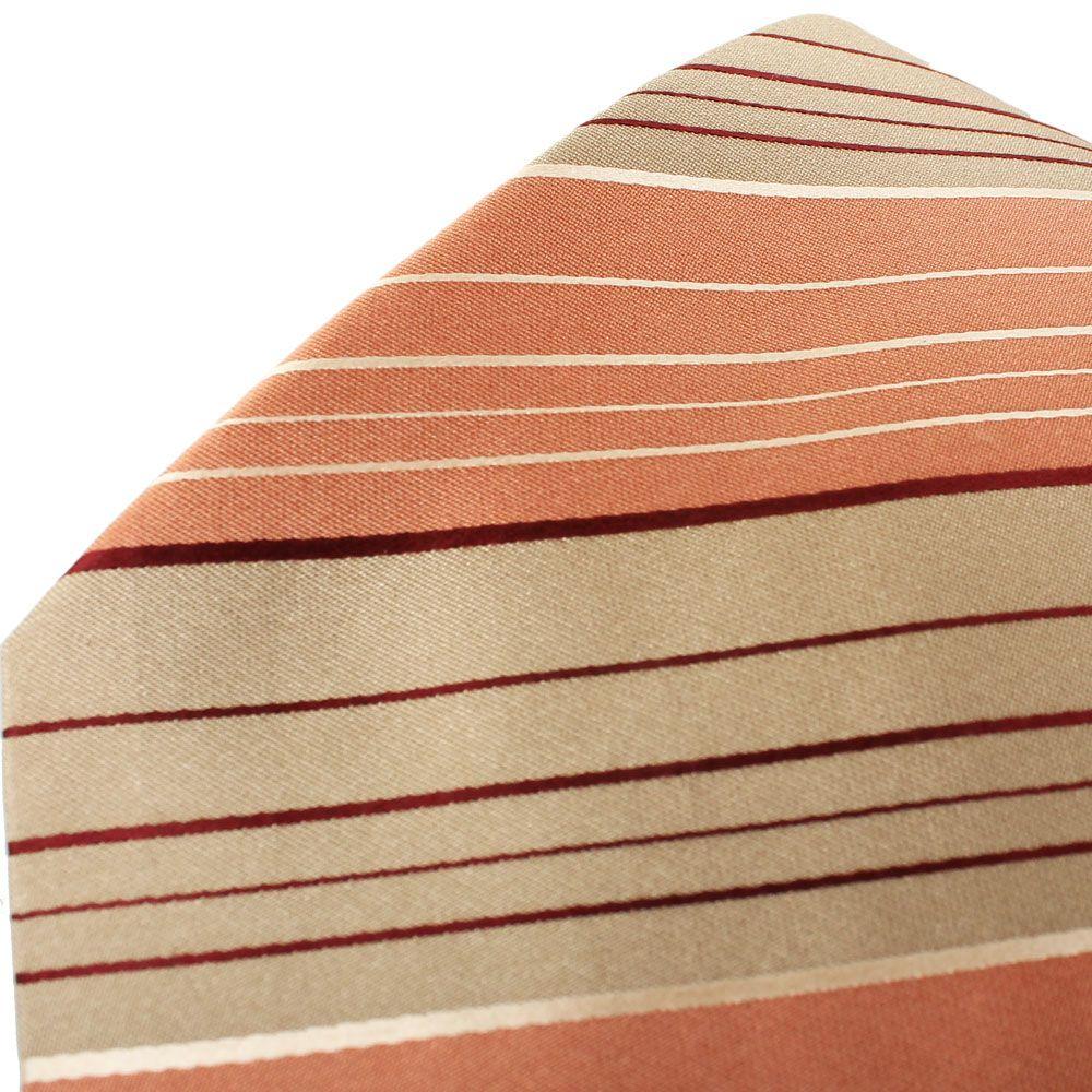 Галтук DKNY бежевого цвета с персиковыми полосками