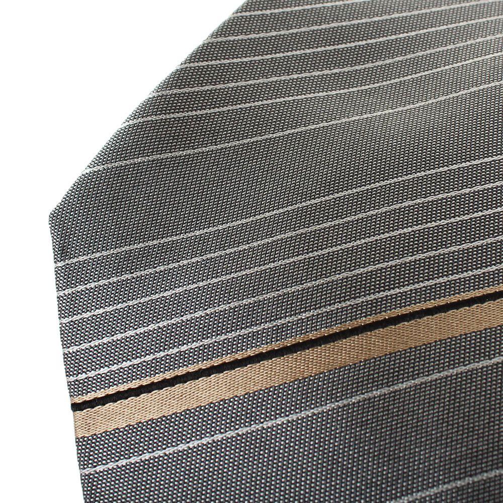 Галстук серого цвета DKNY в полоску