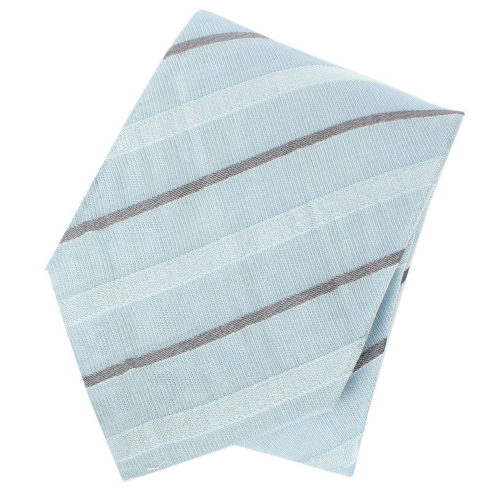 Галстук DKNY нежного голубого цвета в тонкую серую полоску